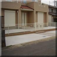 玄関前土間コンクリート、アプローチ