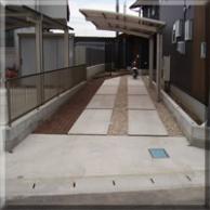 磐田市 駐車場土間コンクリート及び玄関アプローチ