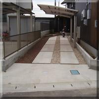 駐車場土間及び玄関アプローチ