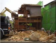 袋井市 木造店舗付住宅建物解体