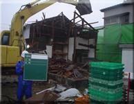 菊川市 木造公会堂建物解体